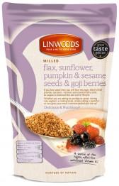 Milled Organic Flax, Sunflower, Pumpkin & Sesame Seeds & Goji Berries