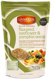 Milled Organic Flaxseeds, Sunflower and Pumpkin Seeds